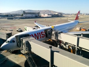 Our plane at SFO